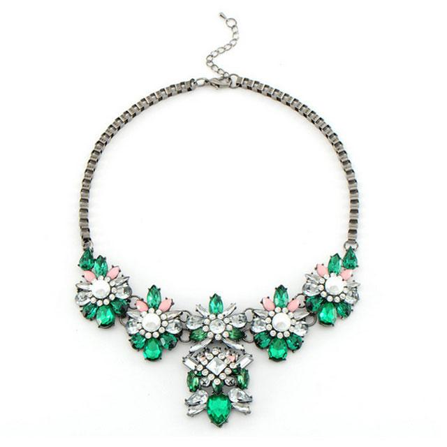 Colier Borealy Emerald Statement Passion 0