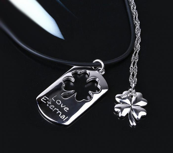 Coliere Love Eternal Clover Charms For Lovers Argint 925 Borealy-big