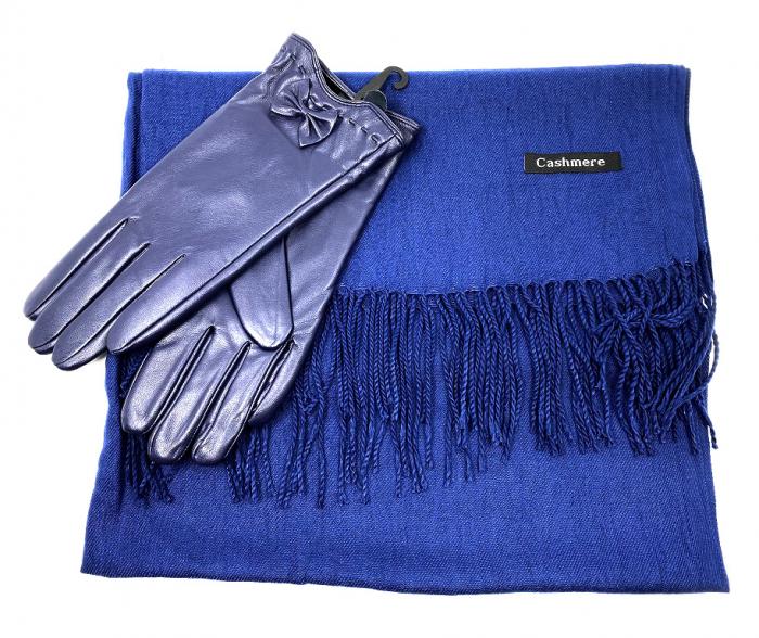 Colours of Blue Esarfa Casmir & Mănuşi Piele 0