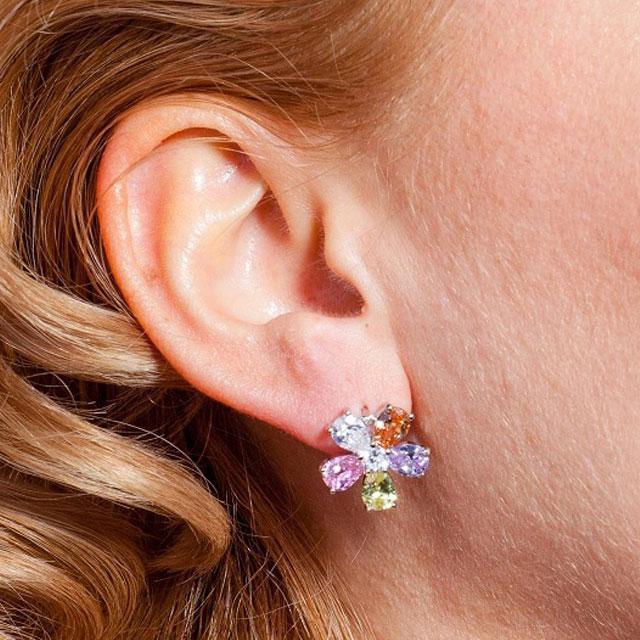 Cercei Borealy Sapphire Colours Fleur-big