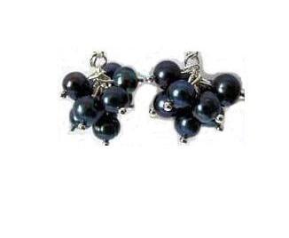 Cercei Perle Negre Caviar Tahitiene 0