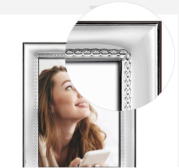 Ramă foto placată cu argint 10 X 15 CLASSICO by Chinelli, made in Italy-big