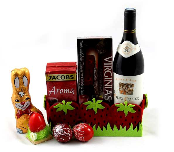 Cos Paste Red Strawberry Gift Basket 0