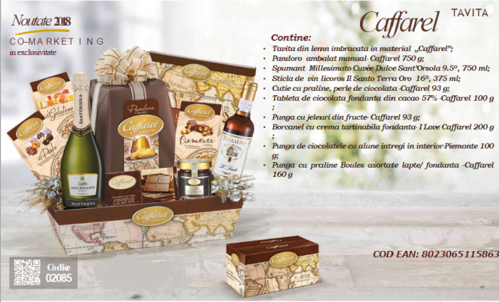 Cos de Craciun Caffarel - 12 piese, made in Italy-big