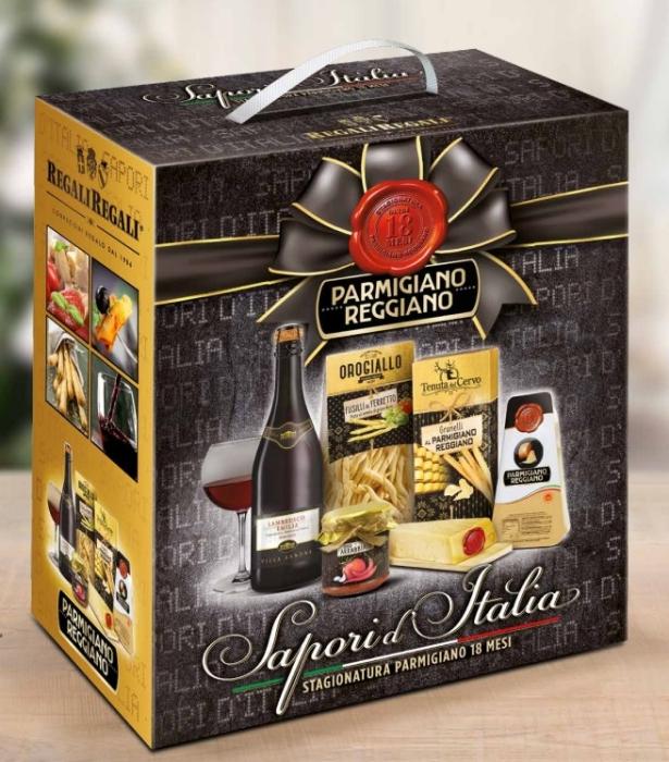 Cos de Craciun Sapori  d'Italia - 5 piese , made in Italy-big