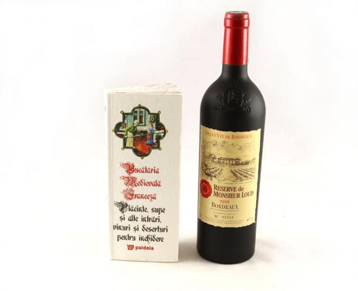 Cadou Bucătărie Medievală Franceză Și Vin Reserve De Monsieur Louis 0