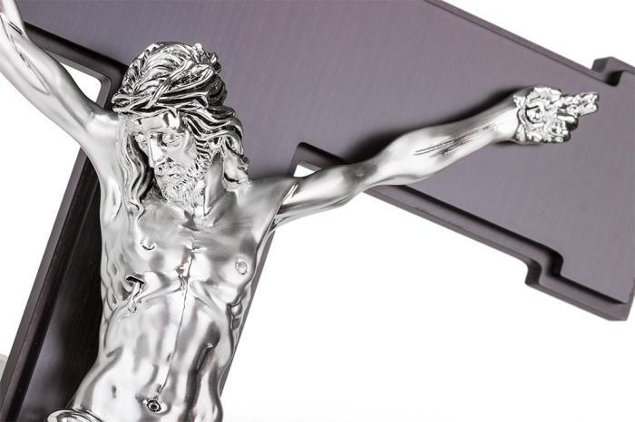 Cruce Argint Iisus Hristos Valenti - Made in Italy-big