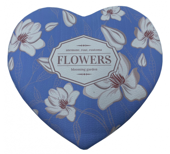 Cutie bijuterii inimioara Blue Flowers-big