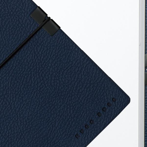Cutie 10 ceasuri Bond Blue by Friedrich, made in Germany, si Note Pad Hugo Boss - personalizabil-big