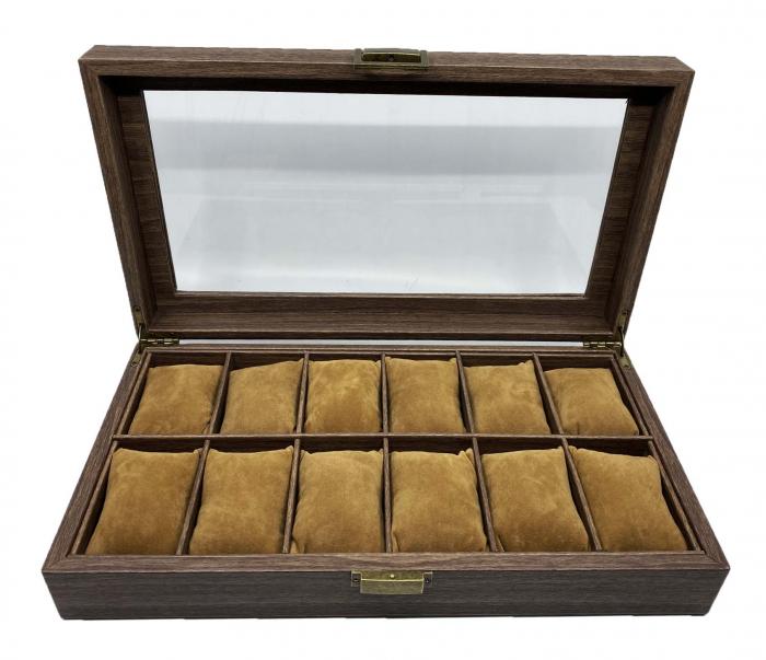 Cutie 12 ceasuri Premium Brown Leather [0]
