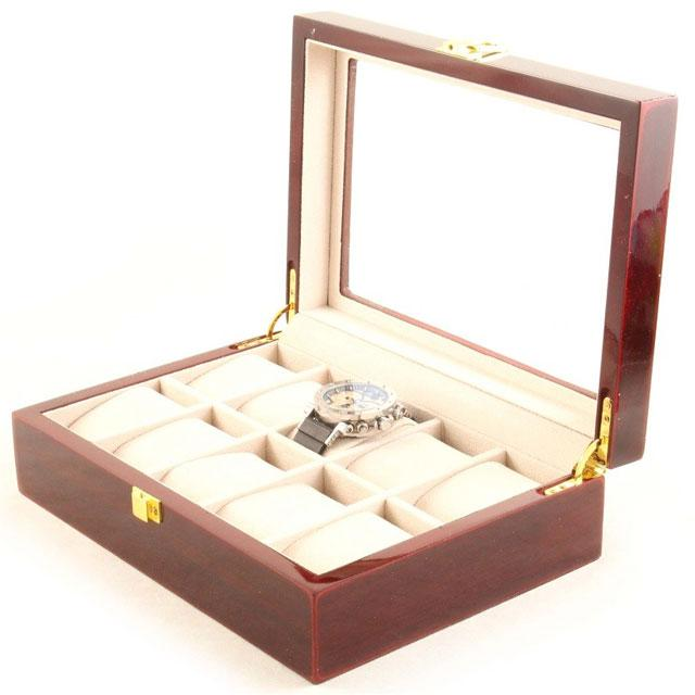 Set cutie 10 ceasuri Red Wood Luxury - personalizabil 0