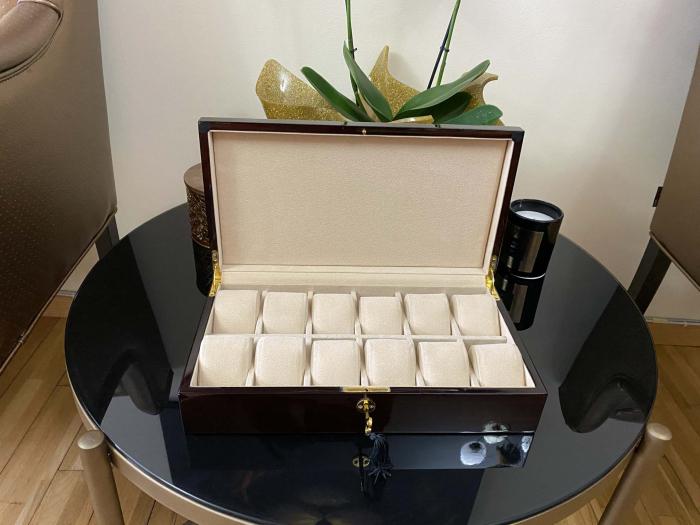 Cutie 12 ceasuri Luxury Golden Wood [5]