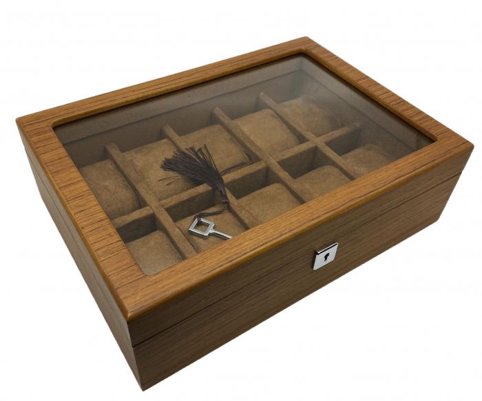 Cutie 10 ceasuri  Luxury Wood Brown 2