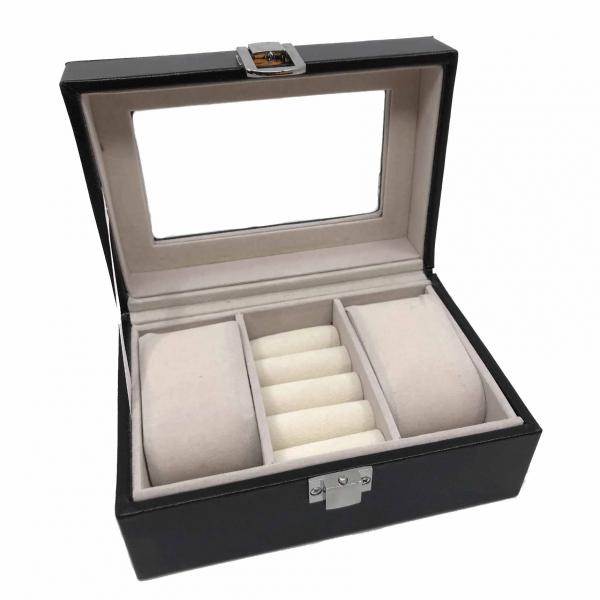 Cutie 2 ceasuri lemn by Borealy - personalizabil 0