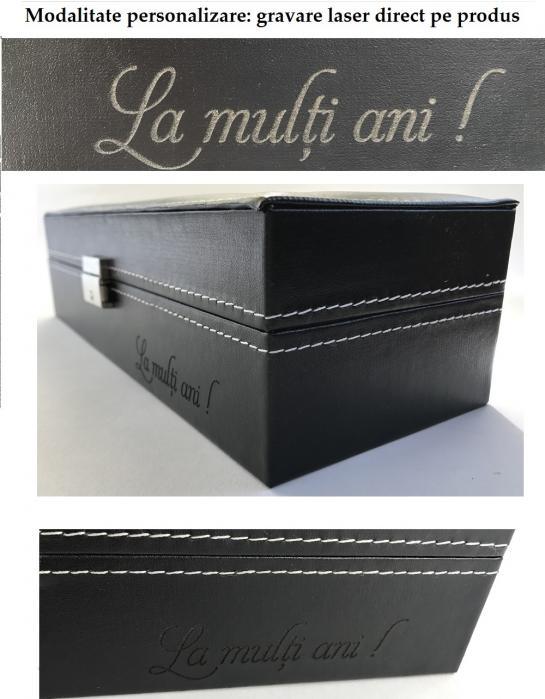 Cutie 16 Ceasuri si Butoni Lux Black Wood [4]