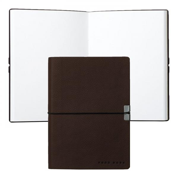 Set Cutie 6 ceasuri lemn Luxury Brown si Note Pad Burgundy Hugo Boss-big