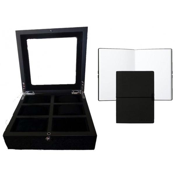 Set Cutie 6 Ceasuri Black Wood si Note Pad Black Hugo Boss - personalizabil-big
