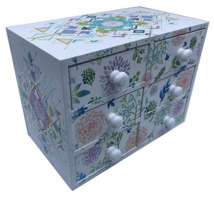 Cutie Bijuterii din Lemn cu 6 Sertare [1]