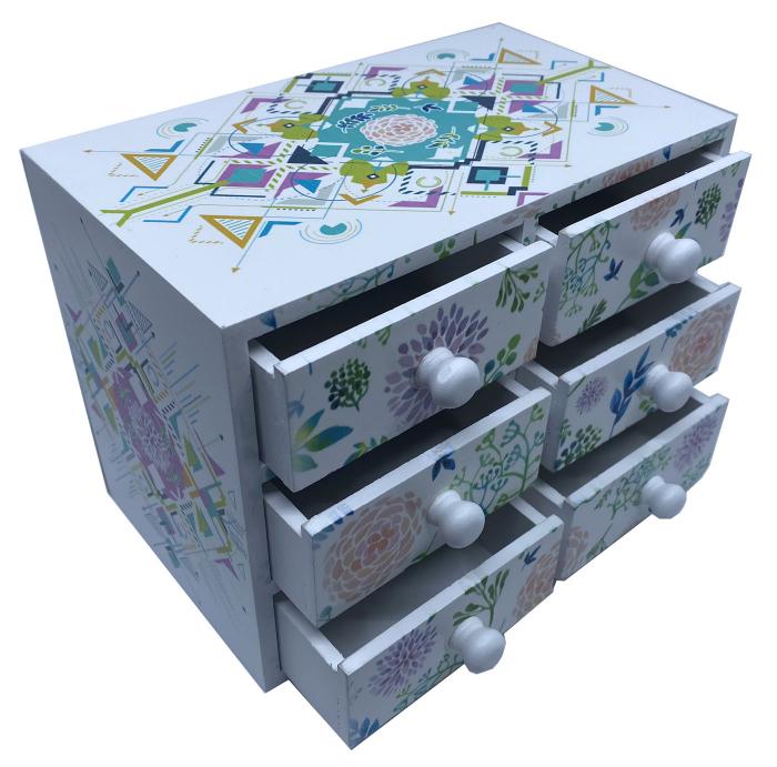 Cutie Bijuterii din Lemn cu 6 Sertare [2]