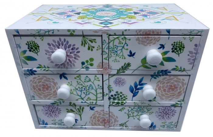 Cutie Bijuterii din Lemn cu 6 Sertare [0]