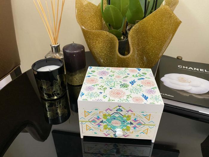Cutie Bijuterii din Lemn cu 2 Compartimente [3]