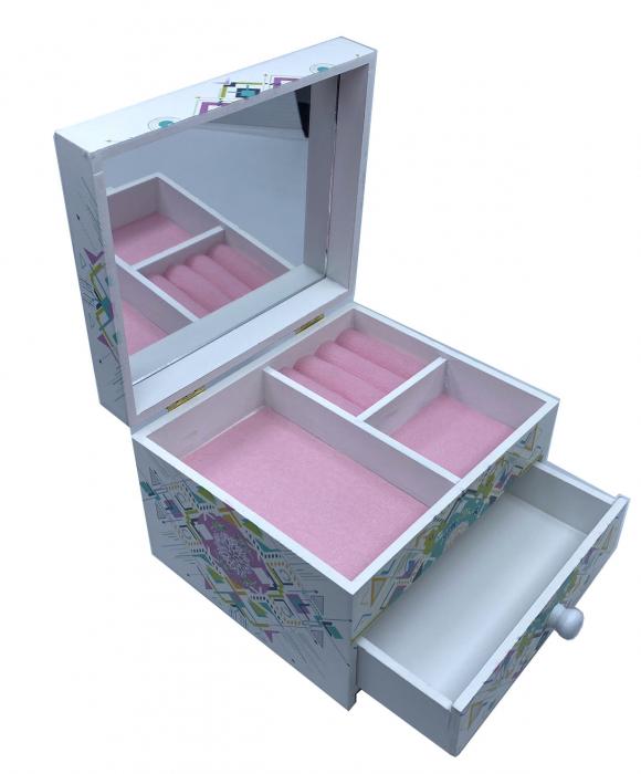 Cutie Bijuterii din Lemn cu 2 Compartimente [2]