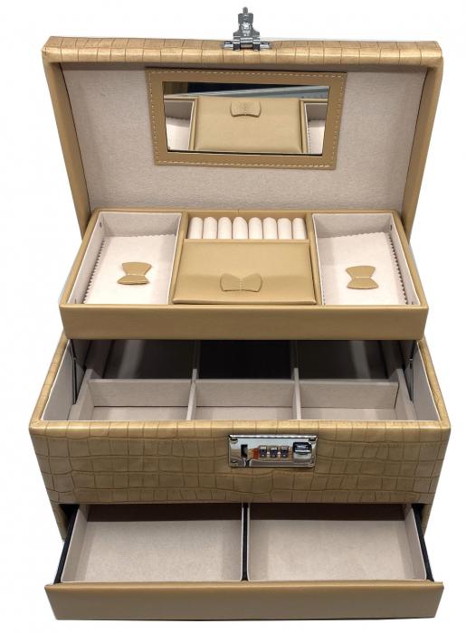 Cutie bijuterii Luxury Beige Croco by Borealy [0]