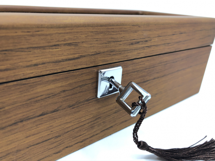 Cutie 5 ceasuri lemn Luxury Brown-big