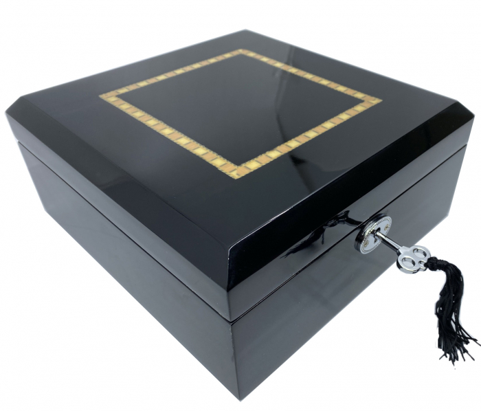 Cutie 6 ceasuri Luxury Wooden Black [0]