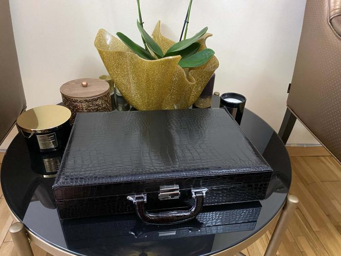 Cutie de 24 ceasuri Luxury Black Croco [4]