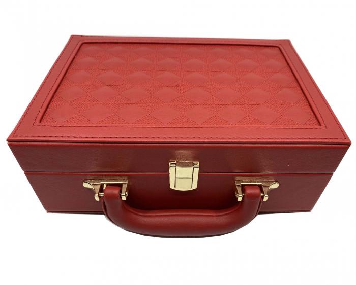 Cutie de bijuterii din piele Red Style, 25 x 17 cm [1]