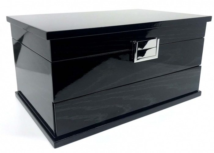 Cutie de Bijuterii Elegant Black Wood by Borealy-big