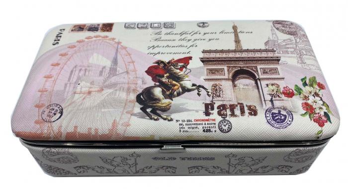 Cutie de bijuterii Vintage Paris Card 0