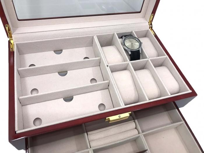 Cutie din Lemn pentru Ceasuri, Ochelari si Bijuterii by Borealy [1]