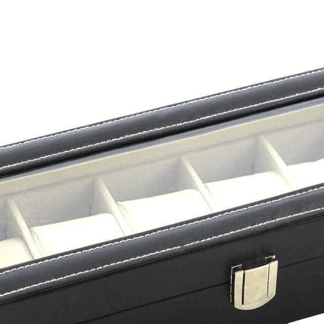 Cutie 6 ceasuri piele capac transparent - personalizabil 5