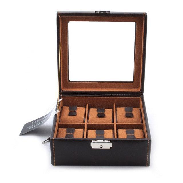Set Cutie 6 ceasuri Brown Topas by Friedrich si Note Pad Burgundy Hugo Boss - personalizabil-big