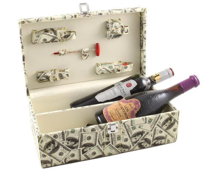 Cutie dublă de vin cu accesorii - Dollar Style 0