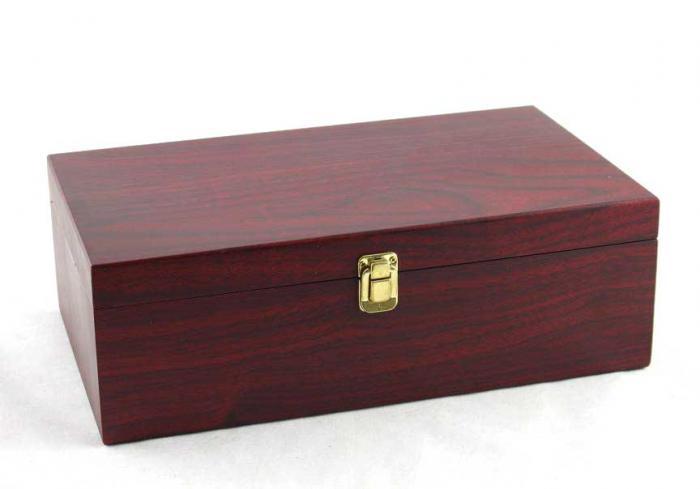 Cutie dubla de vin din lemn cu accesorii-big