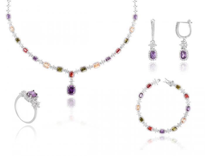 Dantelle Classic Multicolore Colier, Cercei, Brăţară şi Inel 0