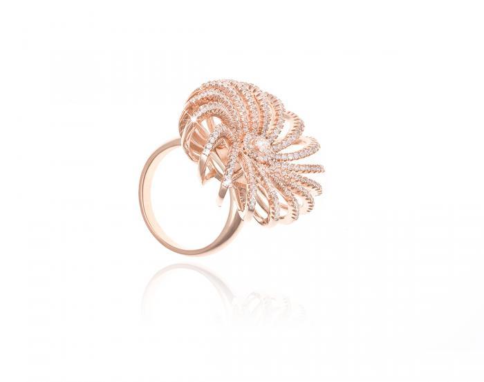 Dantelle Veneţia Pink Colier, Cercei şi Inel by Borealy-big