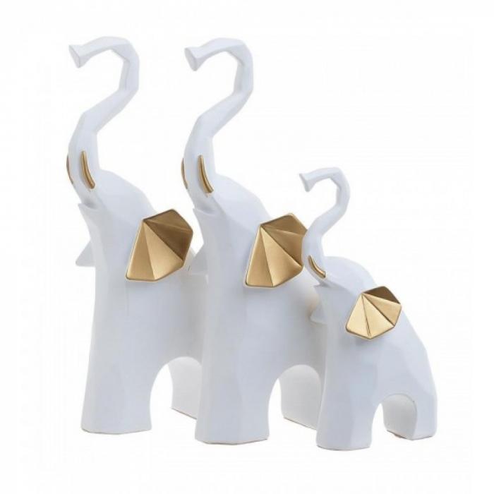 Decoratiune Lucky Elefants White Gold [0]