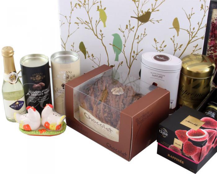 Deluxe Easter Gift Box, cu Trufe de Padure si Sampanie cu Aur 4