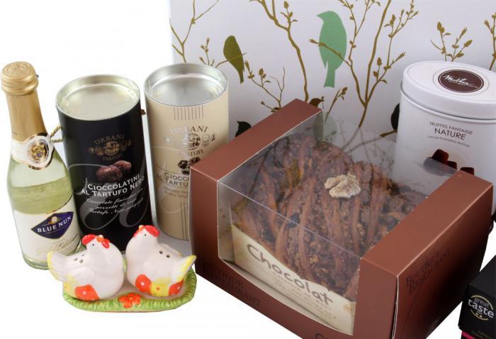 Deluxe Easter Gift Box, cu Trufe de Padure si Sampanie cu Aur 1
