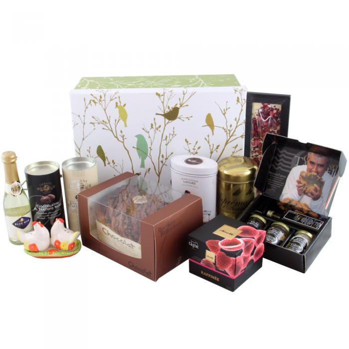 Deluxe Easter Gift Box, cu Trufe de Padure si Sampanie cu Aur 0