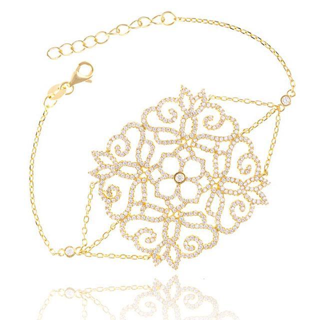 Bratara Borealy Argint Dantelle Broderie Gold-big