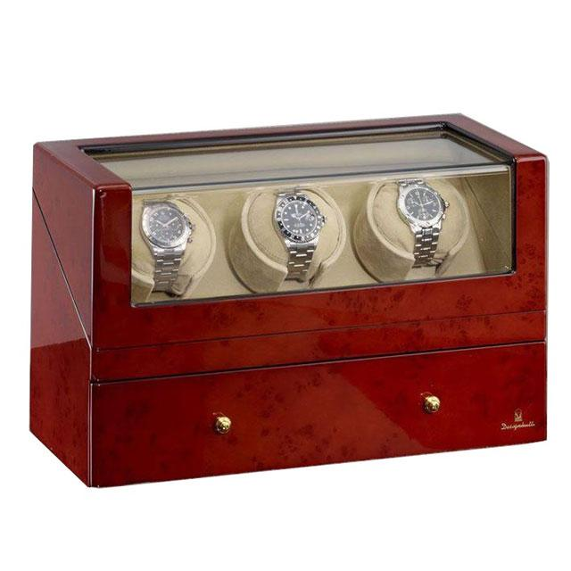 Watch Winder San Diego 3 Brown by Designhütte – Made in Germany 0