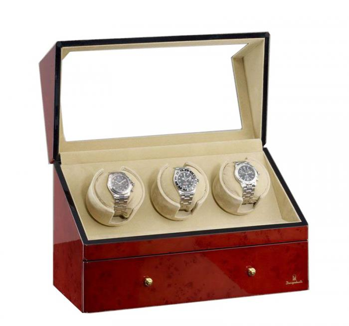 Watch Winder San Diego 3 Brown by Designhütte – Made in Germany 1