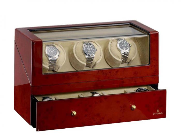 Watch Winder San Diego 3 Brown by Designhütte – Made in Germany 2
