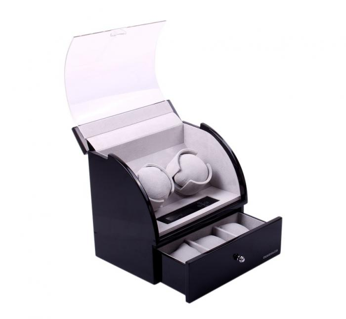 Designhutte Watch Winder Basel 2 BK - personalizabil-big
