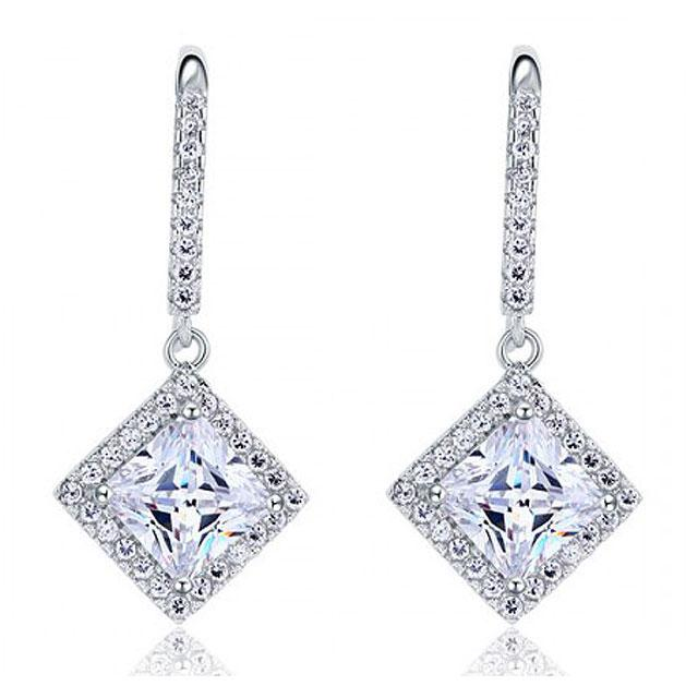 Cercei Borealy Argint 925 Diamonds Princess Dangle-big